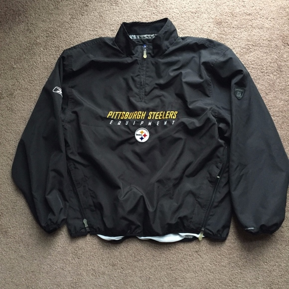 a25360ca Reebok Pittsburgh Steelers Zip Pullover Jacket L